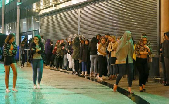 Picture - Kevin Scott Tuesday 20th October 2015 - Belfast Northern Ireland- 1direction cancelled Pictured is the scene at the SSE arena in Belfast where 1 direction have cancelled their nights concert following a sudden illness by Liam Payne Picture - Kevin Scott