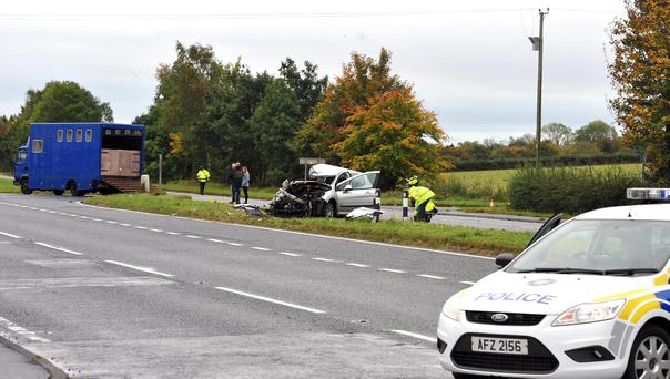 A 62-year-old man has died in hospital after his car collided with a lorry on the main road between Ballymena and Antrim. It happened at around 8pm on Tuesday evening but motorists were warned the closure would continue through the Wednesday morning rush hour and well into the afternoon. PACEMAKER BELFAST 21/10/2015