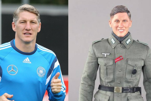 Bastian Schweinsteiger and the Chinese made action figure.