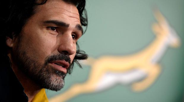 South Africa's lock Victor Matfield attends a press conference in Guildford, south west of London, on October 21, 2015, during the 2015 Rugby Union World Cup. AFP PHOTO / FRANCK FIFE RESTRICTED TO EDITORIAL USEFRANCK FIFE/AFP/Getty Images