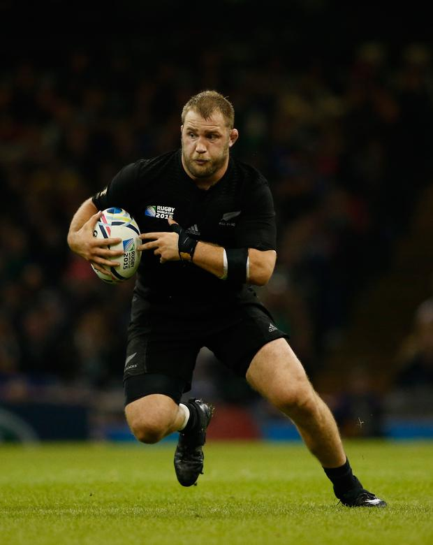 CARDIFF, WALES - OCTOBER 17: All Blacks forward Owen Franks in action during the 2015 Rugby World Cup Quarter Final match between New Zealand and France at Millennium Stadium on October 17, 2015 in Cardiff, United Kingdom. (Photo by Stu Forster/Getty Images)
