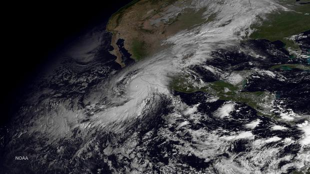 IN SPACE - OCTOBER 23: In this handout from the National Oceanic and Atmospheric Administration (NOAA), Hurricane Patricia is seen churning in the Pacific on October 23, 2015. The now category 5 hurricane is heading towards Mexico and is being called the strongest hurricane ever recorded in the western hemisphere. (Photo by NOAA via Getty Images)