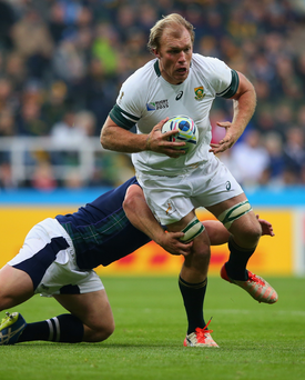 Up for the challenge: South Africa's Schalk Burger is relishing the opportunity of taking on New Zealand in the World Cup semi-final