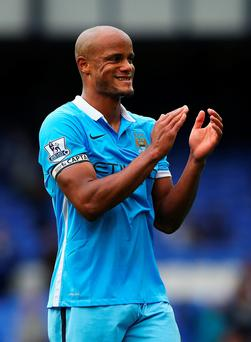 Left out: Vincent Kompany has found himself on the bench