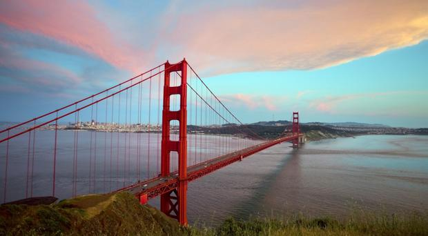 The Golden Gate Bridge, San Francisco. Pic: Irish Independent.