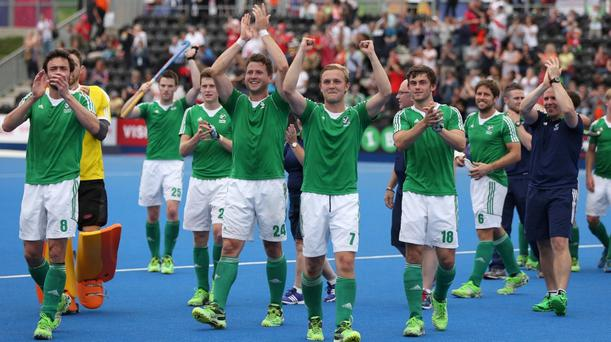 The Irish hockey team have qualified for their first Olympic Games since the London Games in 1908. Pic: PA.