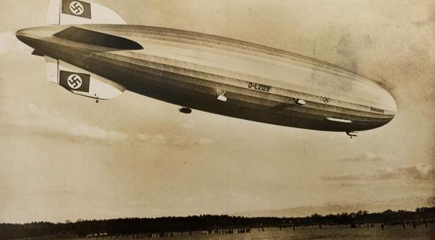 The Hindenburg, which exploded and crashed in New Jersey, US in May 1937, as two unique fire-damaged relics which survived the disaster go under the hammer at Henry Aldridge & Son in Devizes, Wiltshire. Henry Aldridge & Son/PA Wire.