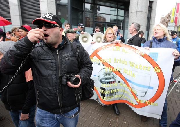 Water charges protester Derek Byrne is due in court on November 2. Pic: Damien Eagers.