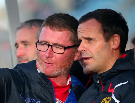 Gone: Darren Murphy (l) quit with Rodney McAree (r) now caretaker