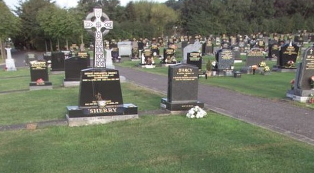 The incident happened in Carnmoney Cemetery.
