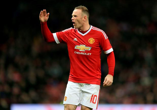 Manchester United's Wayne Rooney shows his frustration during the Capital One Cup, Fourth Round match at Old Trafford, Manchester. PA