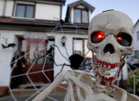 A house in the Parklands estate in Antrim go all out for Halloween this year. (Colm Lenaghan/Pacemaker Press)