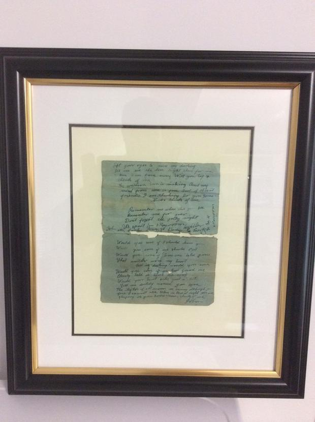 The letter has pride of place in Deasy's Pharmacy. Credit: Irene Deasy