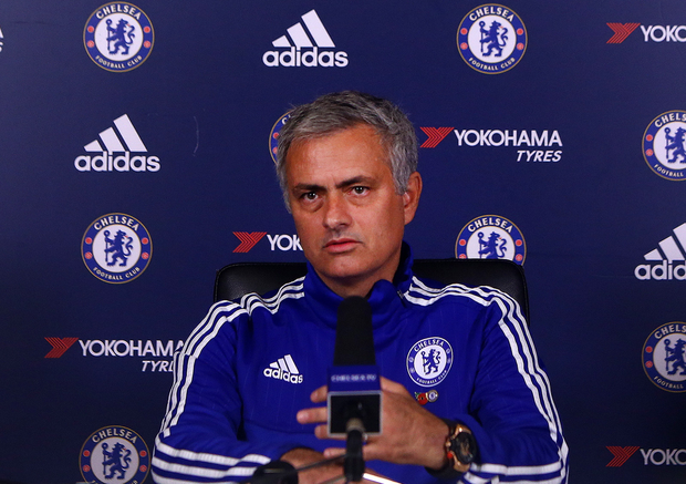 Heat is on: Chelsea boss Jose Mourinho faces the media yesterday ahead of the crunch clash with Liverpool