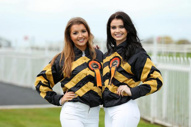 Northern Ireland Festival of Racing 2015 - Saturday Meeting at Down Royal Racecourse. Sophie McCormick and Anna Henry pictured at Down Royal. Photo by Kelvin Boyes / Press Eye