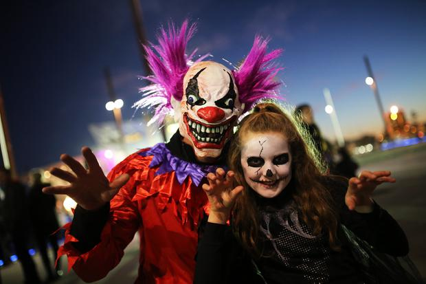 Brendan and Aine Doherty at the Monster Mash at Titanic Belfast. Pic: Paul Moane / Aurora PA.