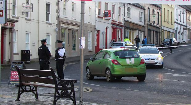 The elderly woman was walking in the Diamond area of the town when she was struck by a car. Pic: Matt Steele/ McAuley Media.