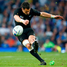 Man of the moment: Dan Carter sizzled for the All Blacks