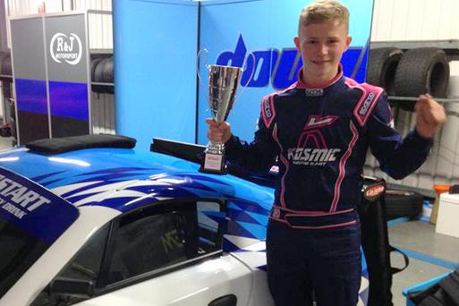 Future star: Daniel Harper will race on the same circuits as his heroes next season