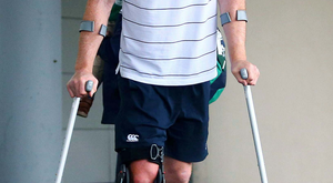Broken dreams: Paul O'Connell's hamstring injury ruled him out of Ireland's World Cup campaign