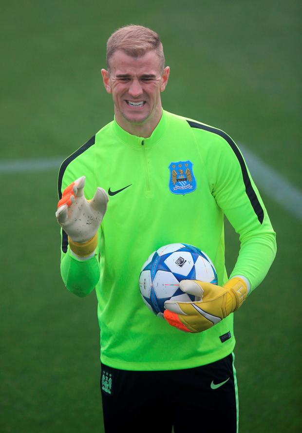 Time to show some Hart: Manchester City's Joe Hart will want to keep a clean sheet against Sevilla this evening