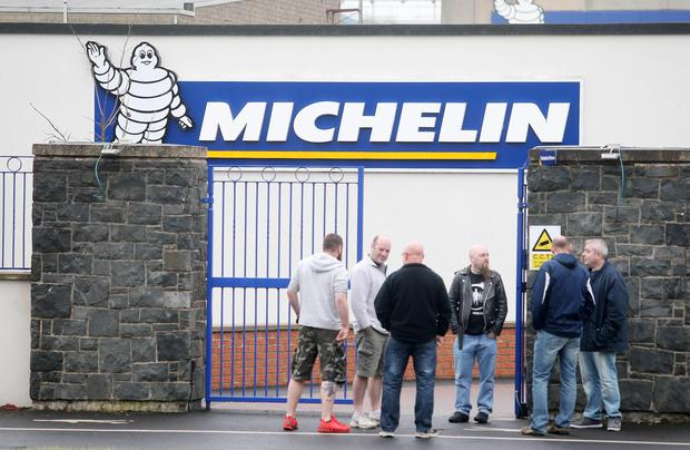 Press Eye - Belfast - Northern Ireland - 3rd November 2015 General views of the Michelin Tyre factory in Ballymena, Co. Antrim, where workers have been called to a meeting. The company has been producing tyres in the town since 1969 employing over 1,000 people. Picture by Jonathan Porter/PressEye