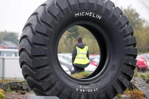 Press Eye - Belfast - Northern Ireland - 3rd November 2015 General views of the Michelin Tyre factory in Ballymena, Co. Antrim, where workers have been called to a meeting. The company has been producing tyres in the town since 1969 employing over 1,000 people. Picture by Jonathan Porter/PressEyePress Eye - Northern Ireland - 3rd November 2015 Photographer: Stephen Hamilton General views Michelin factory in Ballymena, Michelin, Ballymena, Bad news expected ahead of staff meeting today. The company has not said what the meeting is for, but political sources have told the BBC