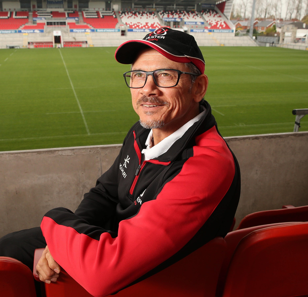 Looking ahead: Les Kiss takes in the Kingspan surroundings as he begins his first week at the helm of Ulster