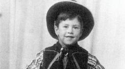 Saddle up - a young gunslinger Gerry Adams