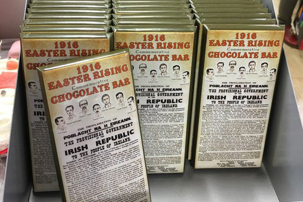 Heatons' 1916 Easter Rising chocolate bar. Pic Justin Hourigan/Twitter