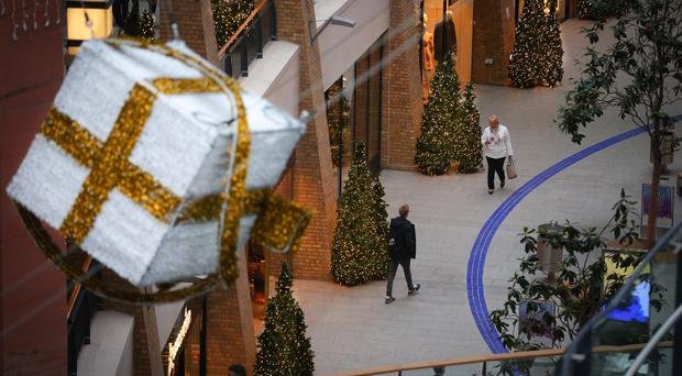 Belfast's Victoria Square shopping centre gets ready for Christmas