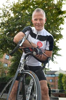 Health push: Declan Cunnane cycled 300 km visiting support groups