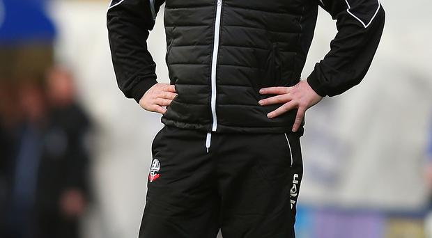 Under pressure: Neil Lennon is determined to get it right at Bolton