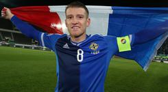 Inspired: Steven Davis was Captain Fantastic last month