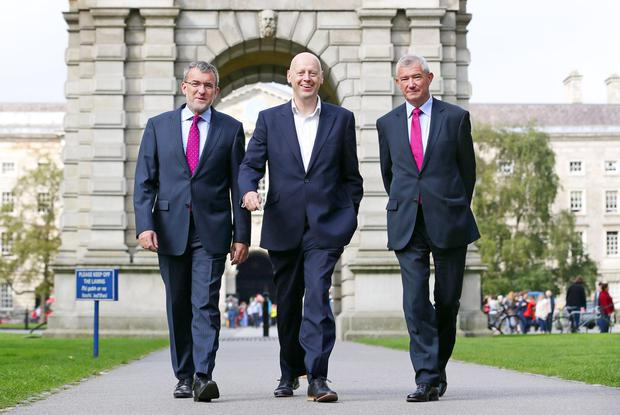 Left to right: Aidan Lynch, British Irish Chamber of Commerce president; Professor Andrew Burke, Dean of Trinity Business School; and Richie Boucher, CEO Bank of Ireland