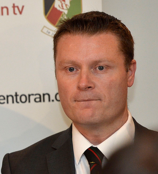 Clear aim: Glentoran chairman Stephen Henderson eyes glory