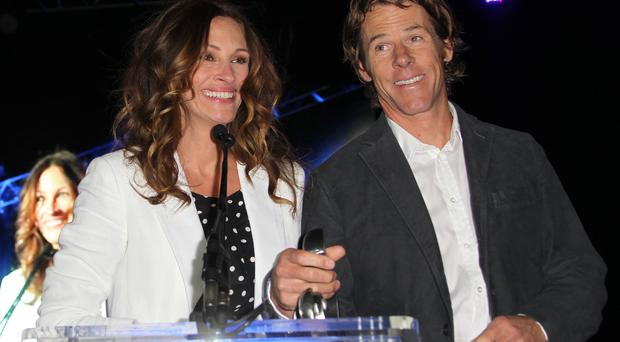 Actress Julia Roberts and Daniel Moder attend Heal The Bay's Bring Back The Beach Fundraiser in 2012. (Frederick M. Brown/Getty Images)
