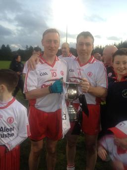 Masters: Tyrone captain Damian Gormley and Conor Daly