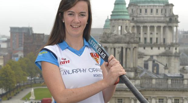 Mandatory Credit: Rowland White/PressEye Women's Hockey: Ulster Elks Sponsors and New Signings 2015-16 Venue: Belfast Date: 1st October 2015 Caption: Rebecca Barry
