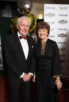 Press Eye - Belfast - Northern Ireland - 18th January 2010 - Picture by Kelvin Boyes / Press Eye - Belfast Telegraph Sports Awards 2009 sponsored by Magners at the Ramada Hotel in Belfast - Maeve Kyle (who received the Belfast Telegraph Hall of Fame trophy) and husband Sean Kyle.