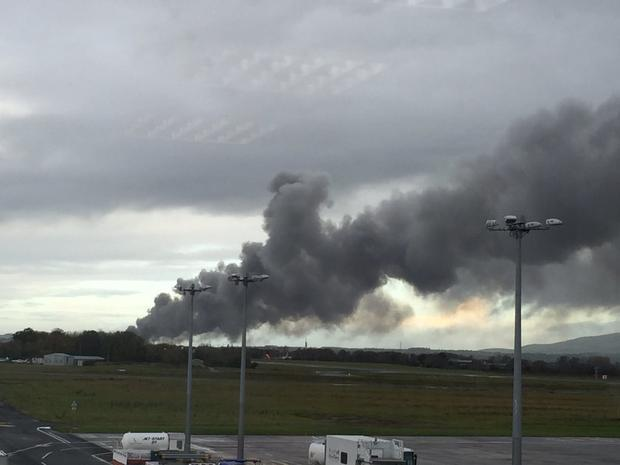 The fire broke out on Wednesday morning. @CoDerryAirport