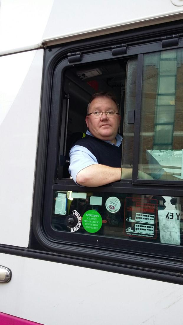 Paul has been a bus driver for the past 20 years.