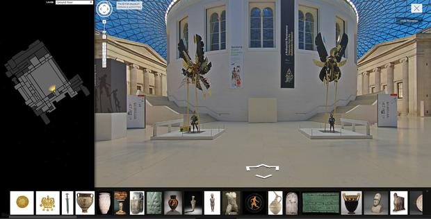 Google's Street View allows users, unable to get to the British Museum, top pay a virtual visit