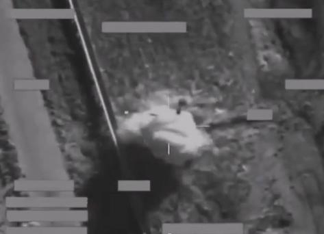 Video purports to show the drone strike. Pic. Youtube