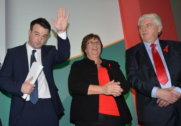 PACEMAKER BELFAST 14/11/2015 Colum Eastwood wins the SDLP leadership contest during the Party Conference in the Armagh City Hotel on Saturday, Alasdair McDonnell was challenged by the MLA for Foyle, Colum Eastwood. Photo Colm Lenaghan/Pacemaker Press