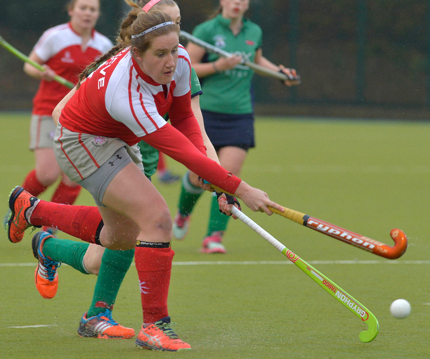 Forward thinking: Hannah Grieve of Pegasus goes on the attack during her team's 4-0 over Greenfields