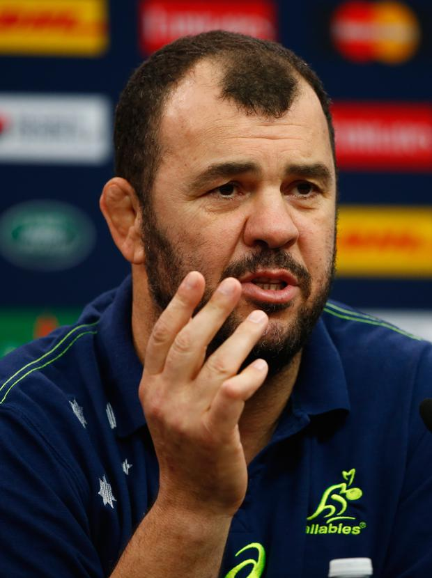 Top coach: Michael Cheika is happy to stay with Wallabies