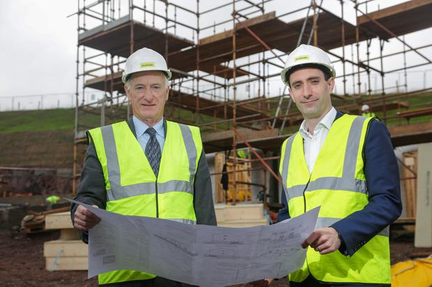 The founder and executive chairman of Braidwater, Patrick McGinnis (left), with his son Joe, the firm's managing director
