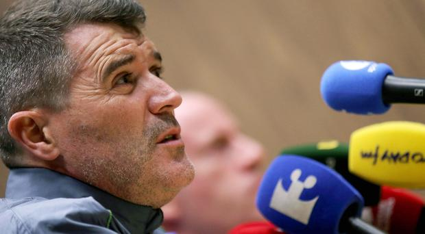 Top team: Roy Keane is keen to remain in his current role with the Republic until after next summer's European Championships