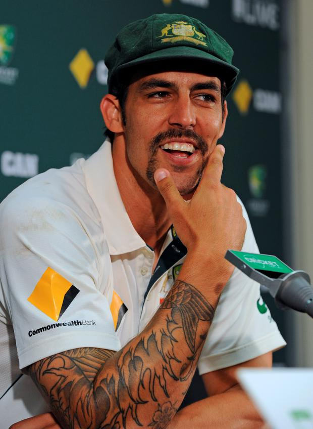Last farewell: Mitchell Johnson announces his retirement